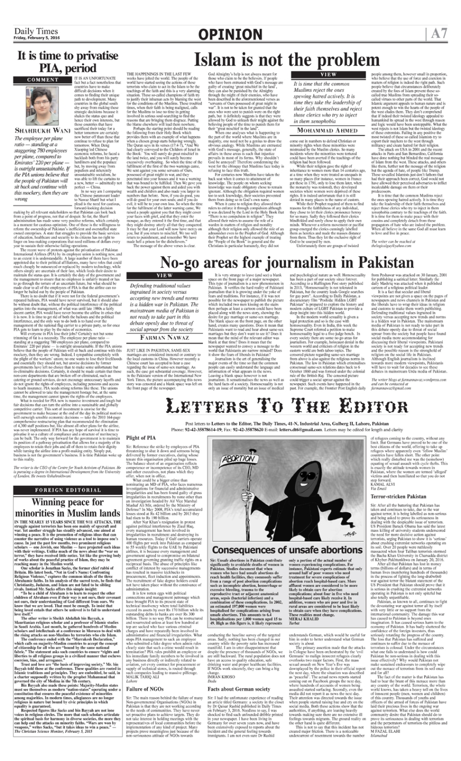 no go areas for journalism in pakistan